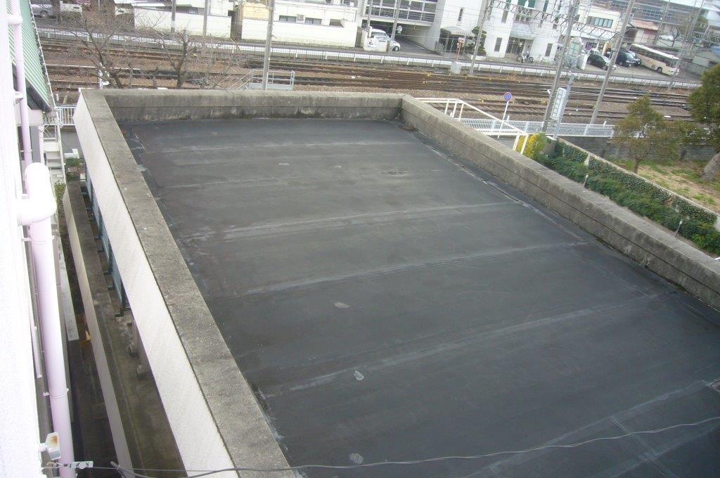 欠陥工事の屋上防水