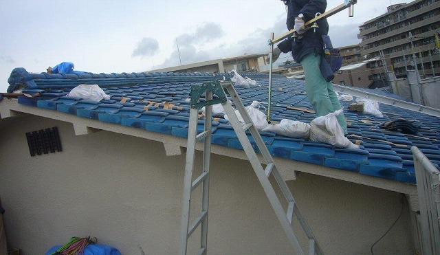 屋根工事 スライダー固定