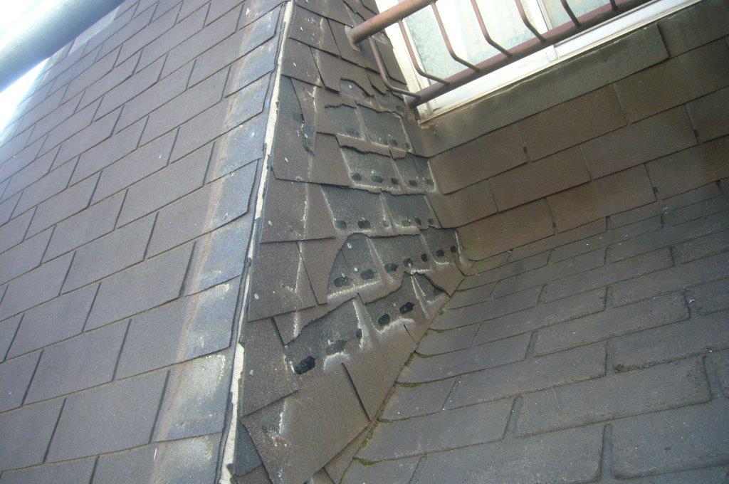 屋根シングル材 飛散