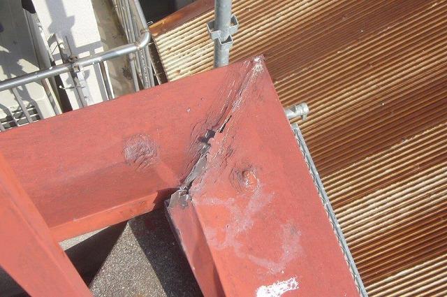 笠木鉄板 破損