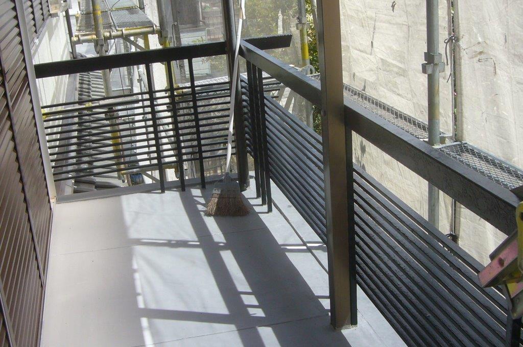 鉄製フェンス 塗装後