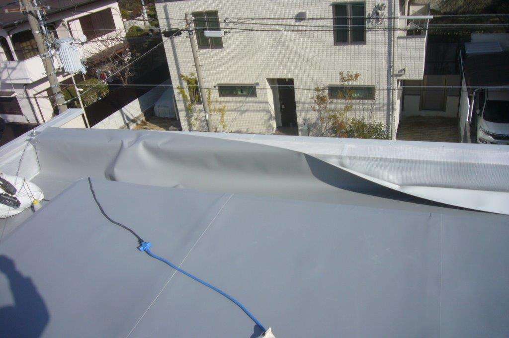 屋上防水 立ち上がり 塩ビシート