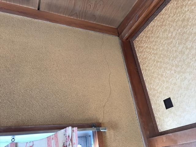 壁聚楽雨漏れ被害