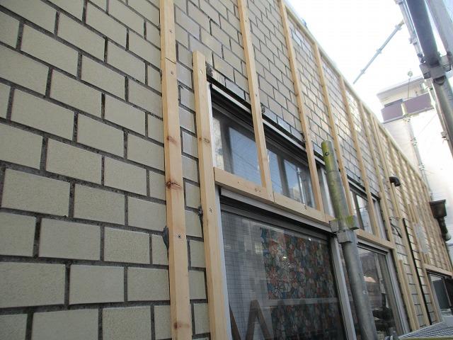 大阪市淀川区 カバー工法 金属サイディング張り 外壁改修
