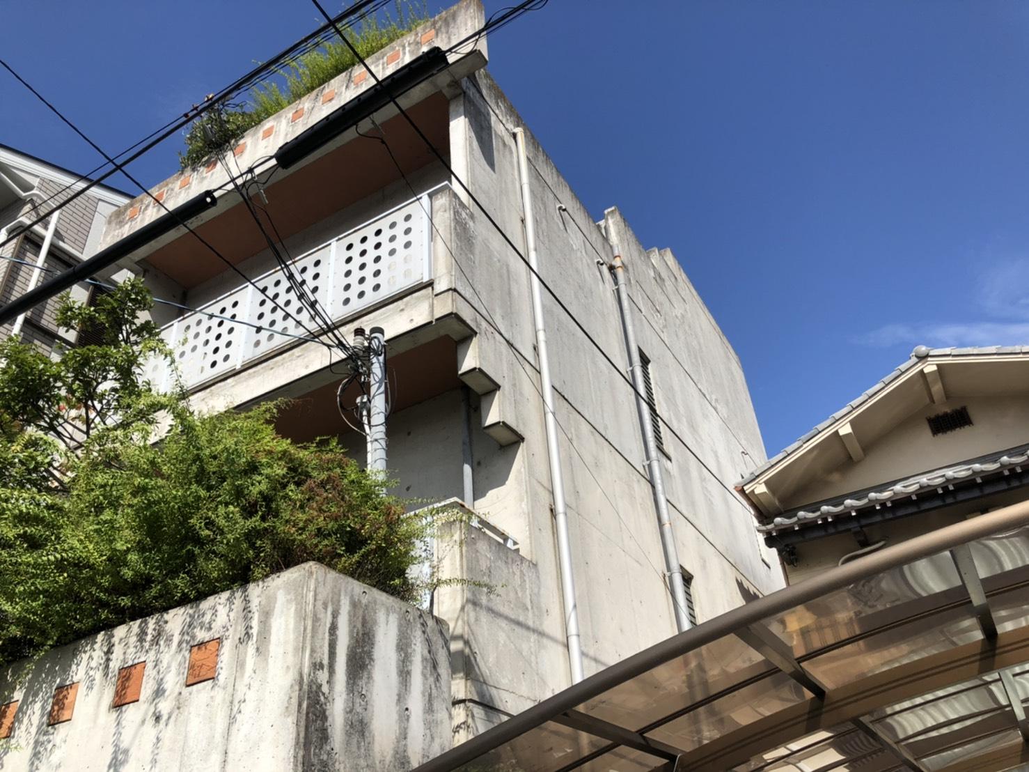 大阪市内で3階建ての現場調査