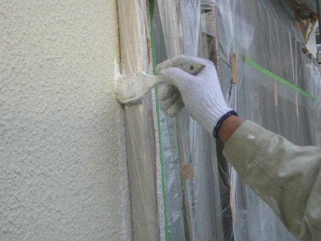外壁刷毛塗り