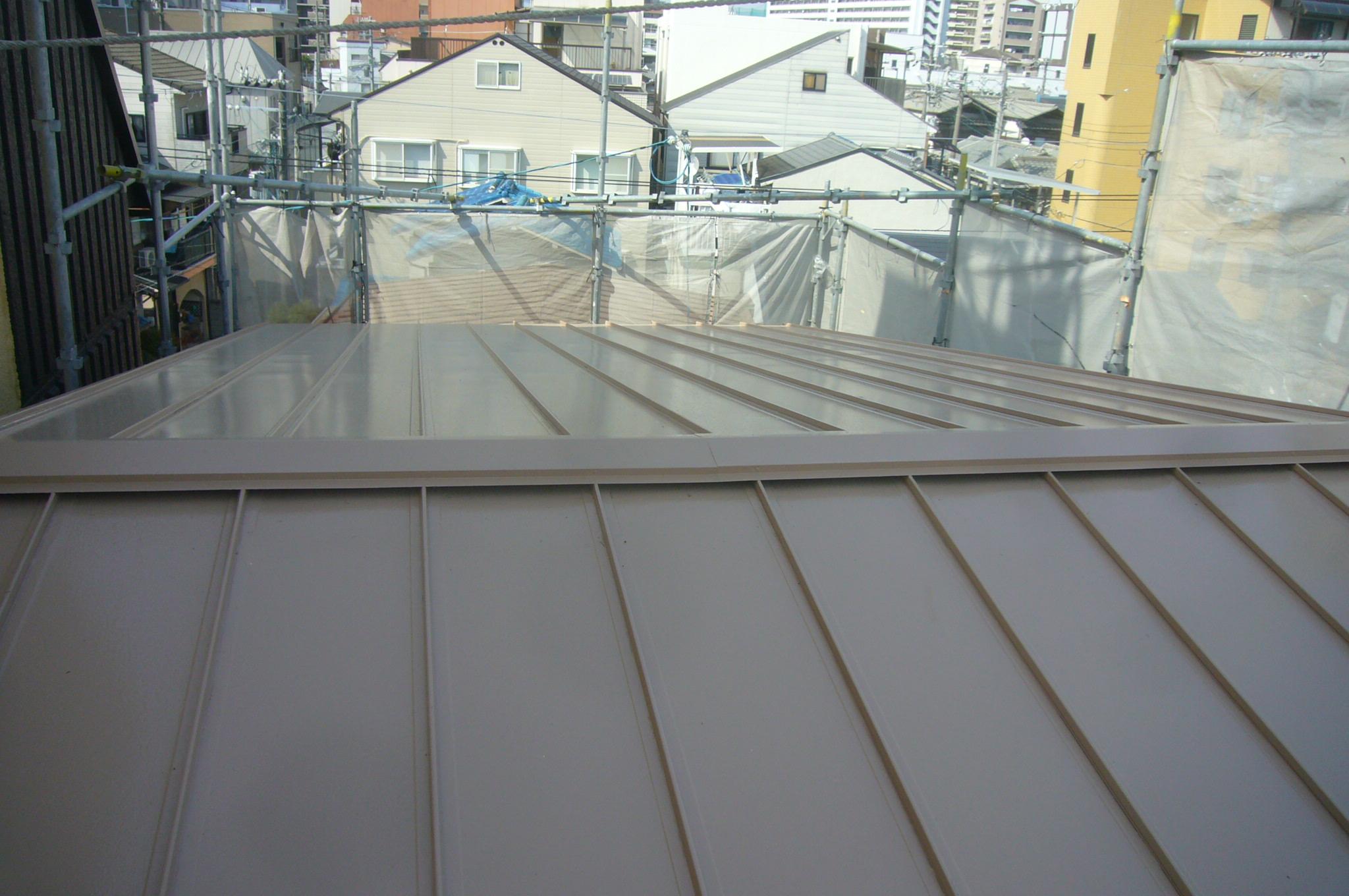 瓦棒屋根塗装