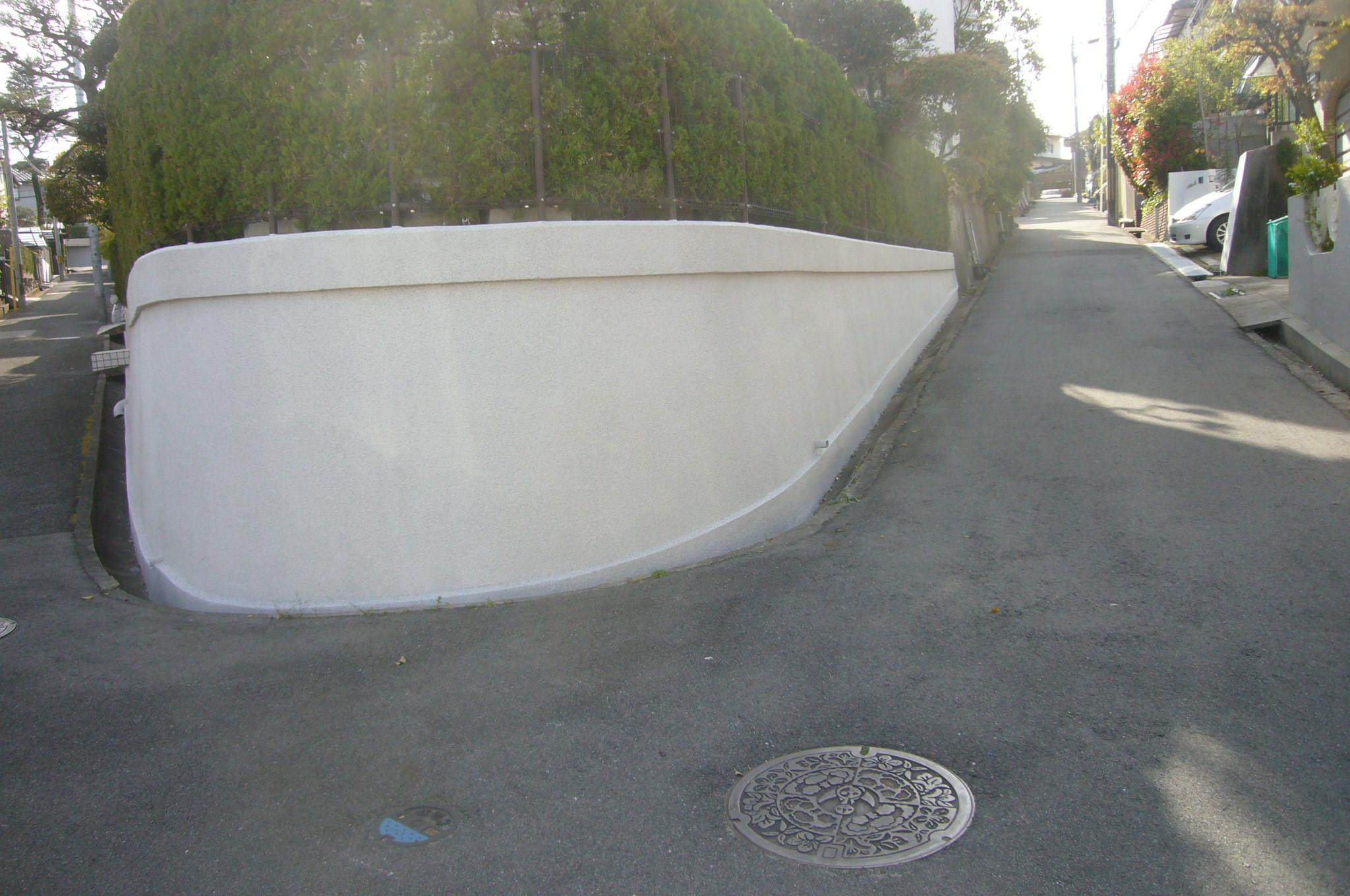 塀の塗装完了