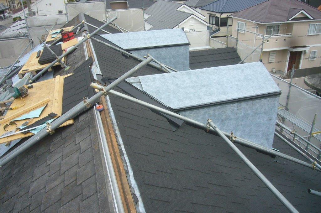 鳩小屋 屋根工事 葺き替え工事