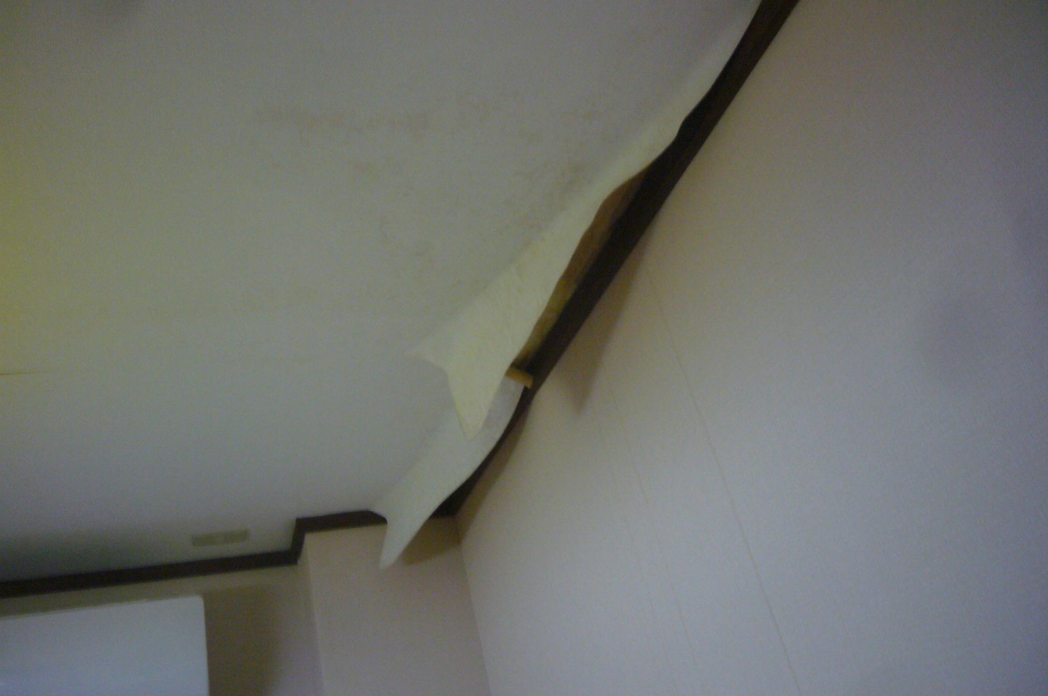 雨漏りで壁紙剥離