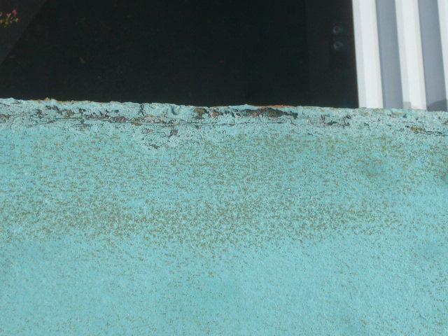 屋上防水パラペット劣化