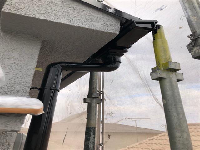 鉄部塗装 樋