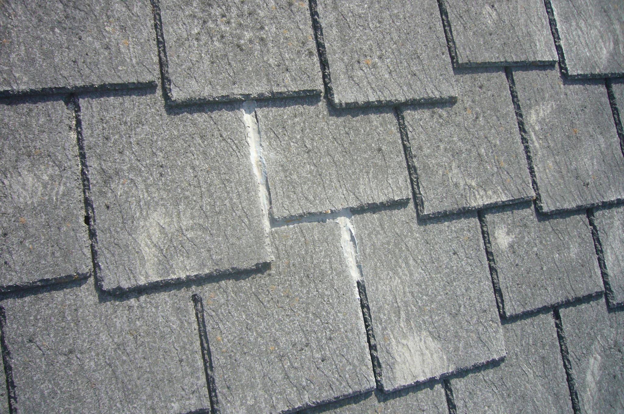 屋根補修跡