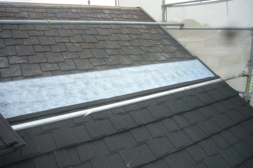 屋根工事 施工済み箇所