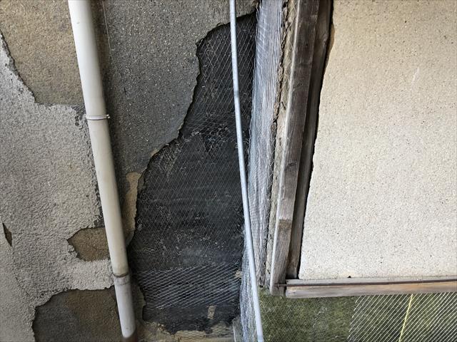 モルタル外壁 下地 ラス網