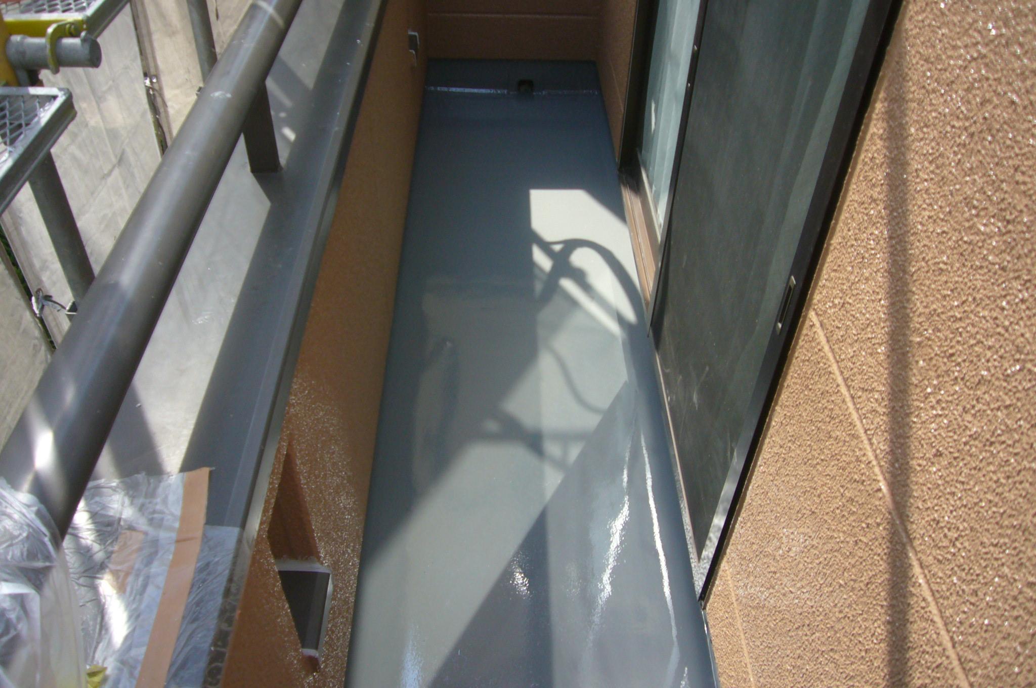 防水トップ塗布