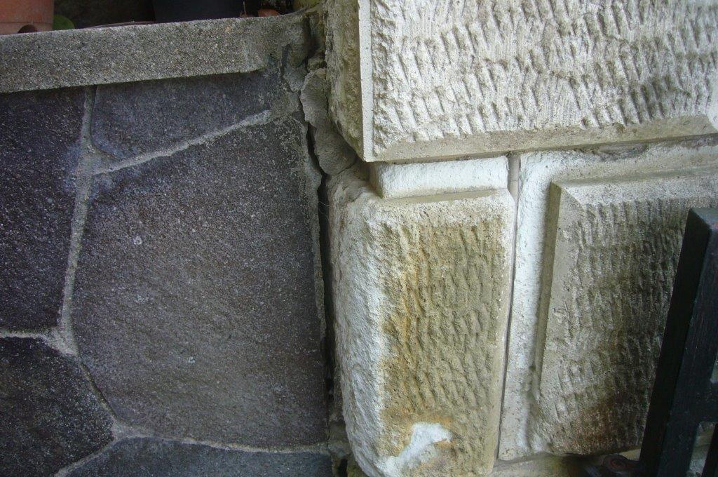 門柱 塀 劣化 剥離