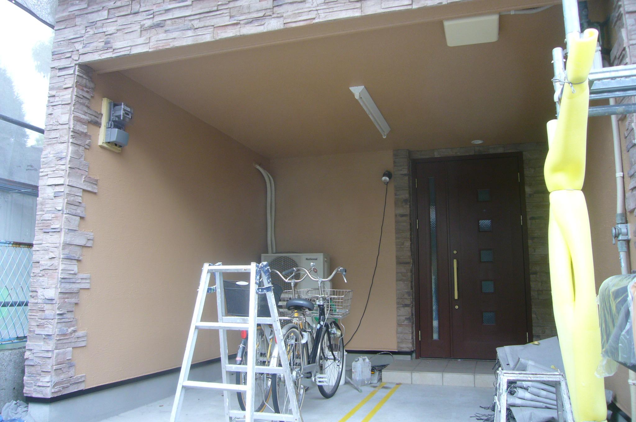 車庫の塗装完了