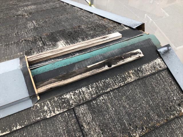 屋根 棟板金 破損