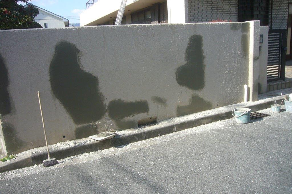塀左官補修終了
