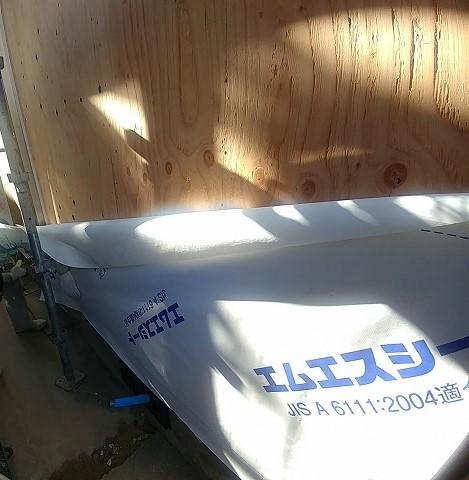 透湿防水シートを張る