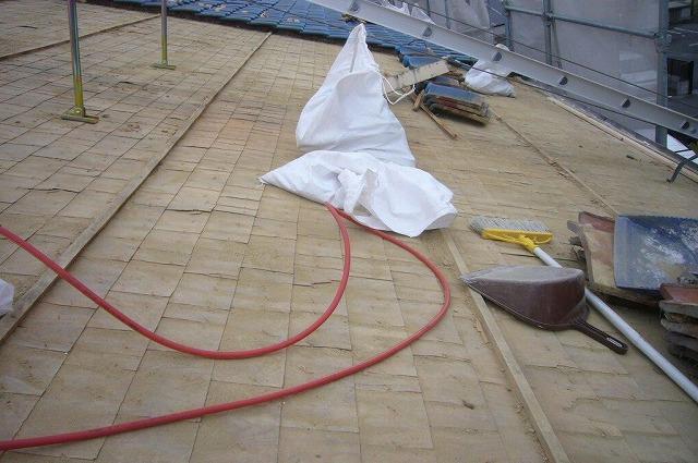 瓦撤去 屋根工事 屋根下地