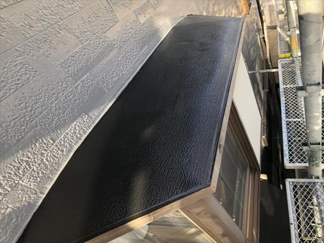 出窓 鉄板 塗装後