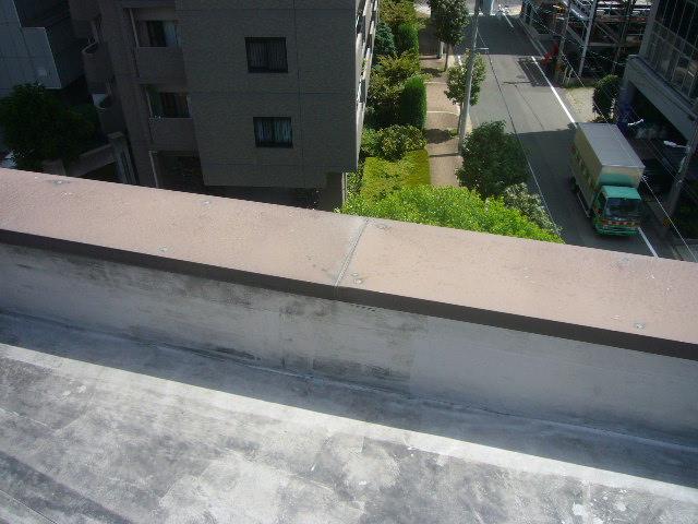屋上笠木塗装劣化