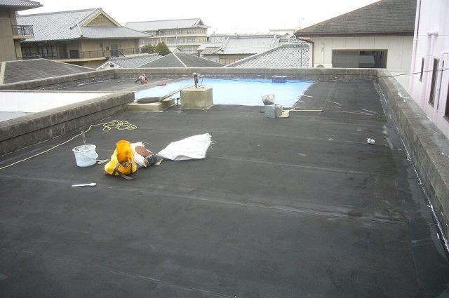 屋上防水 ゴムシートの劣化