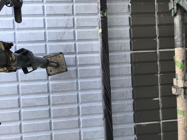 高槻市旭硝子ボンフロンで塗装されるN様邸マンション
