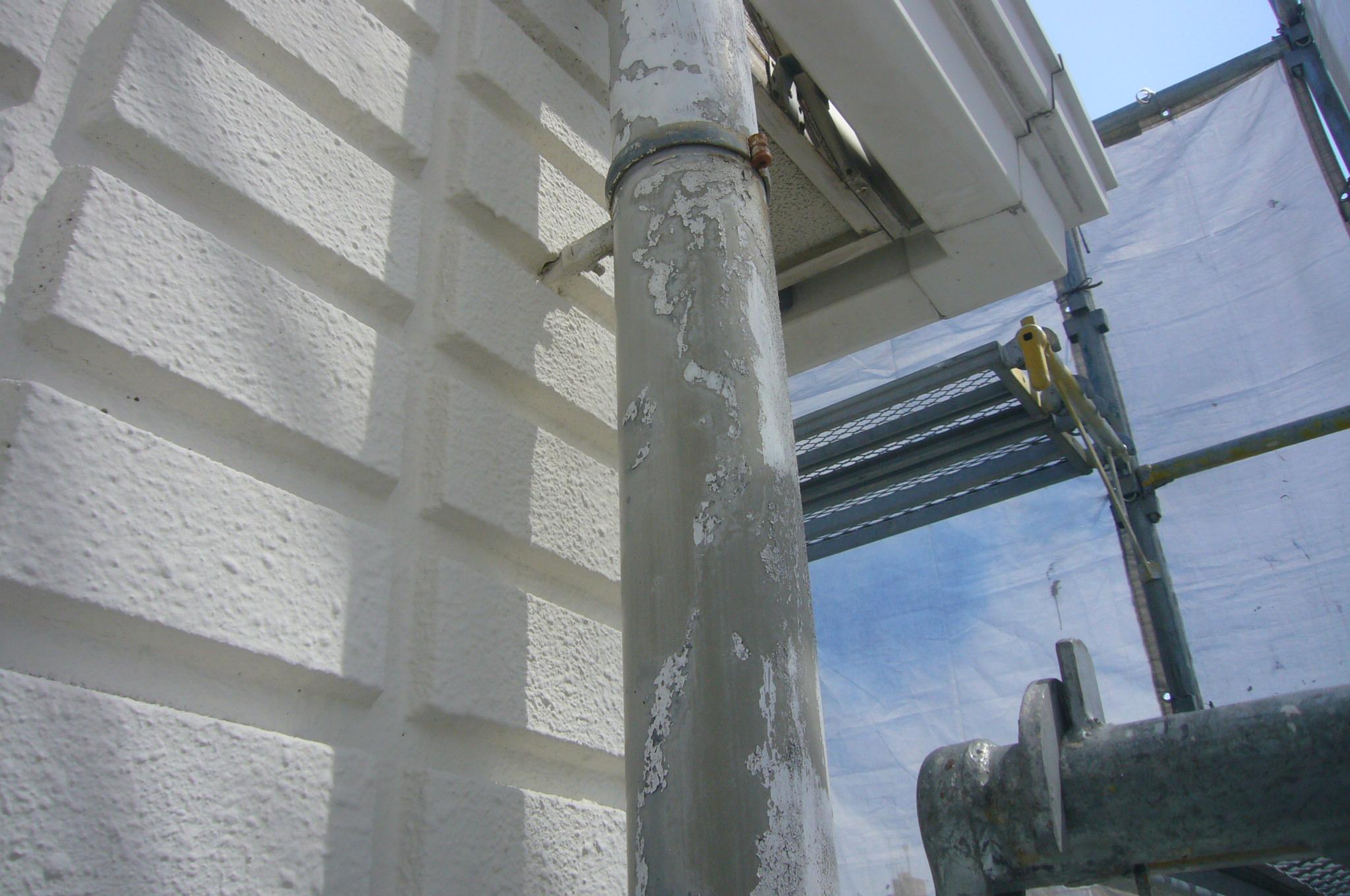 樋のペンキ剥離