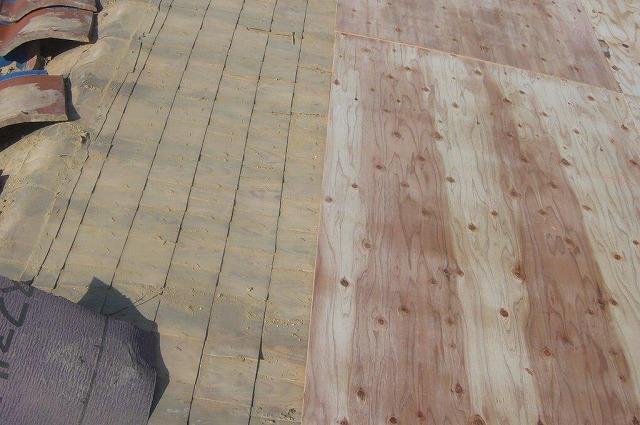 屋根葺き替え コンパネ貼り