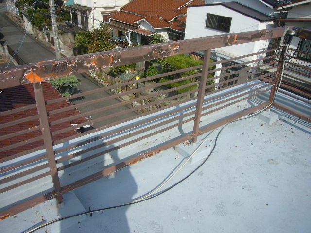 屋上フェンス劣化