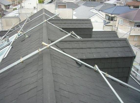 屋根葺き替え工事 9割終了