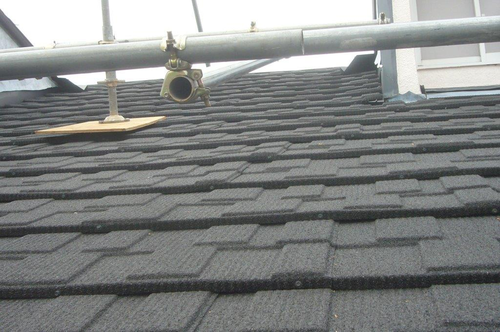 屋根工事 施工済 仕上がり