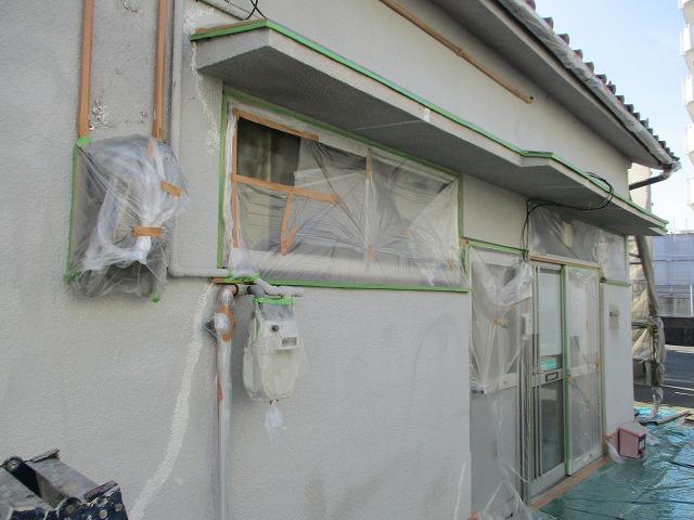 外壁塗装工事 塗り替え 養生