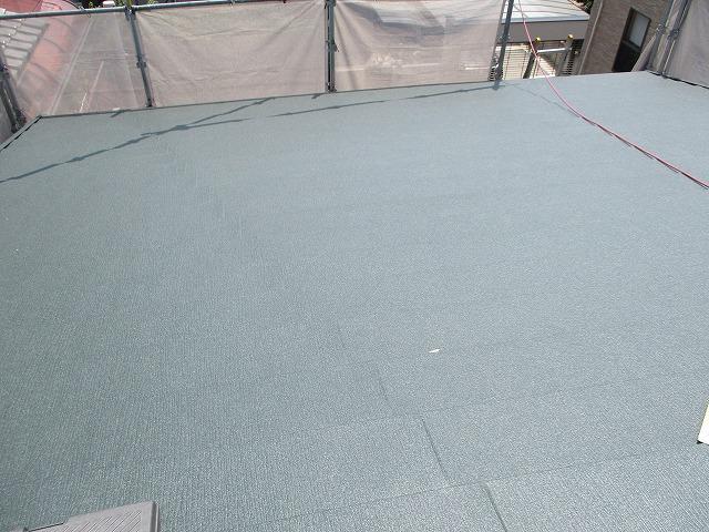 屋根リフォーム 完工 ガルバリウム鋼板 スーパーガルテクト
