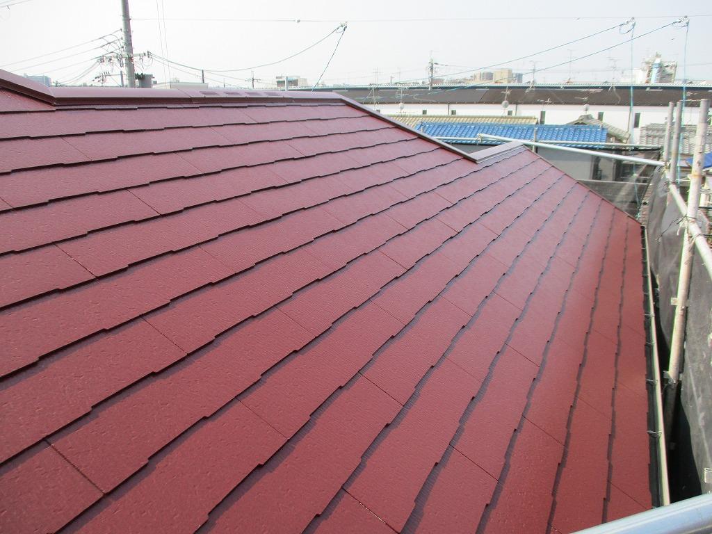 大阪市淀川区 屋根塗装 屋根塗替え カラーベスト塗り替え