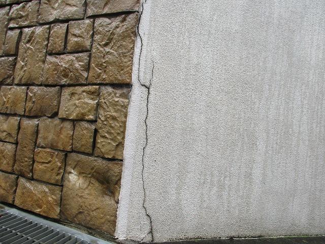 外構 塀 モルタル クラック