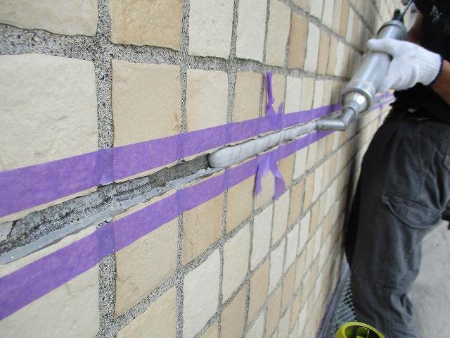 外壁塗装工事 下地調整 シーリング充填