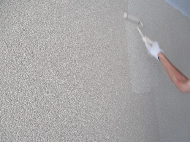 車庫壁 上塗り