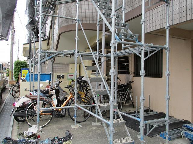足場架設工事 昇降階段
