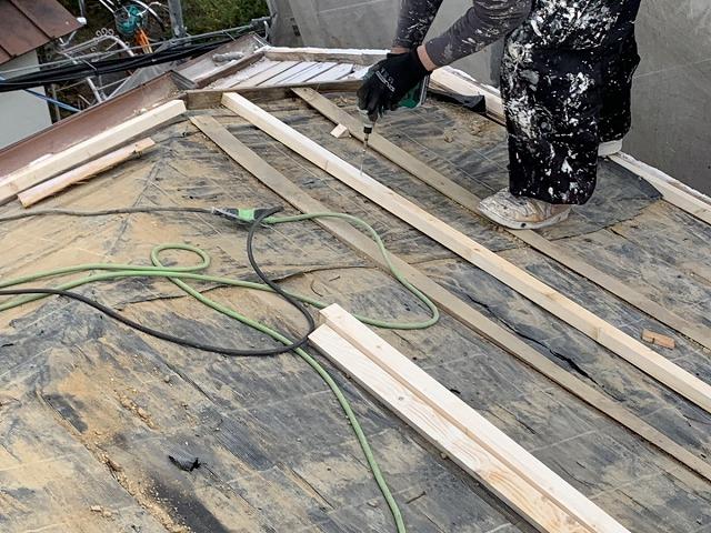 下地工事 屋根葺き替え工事