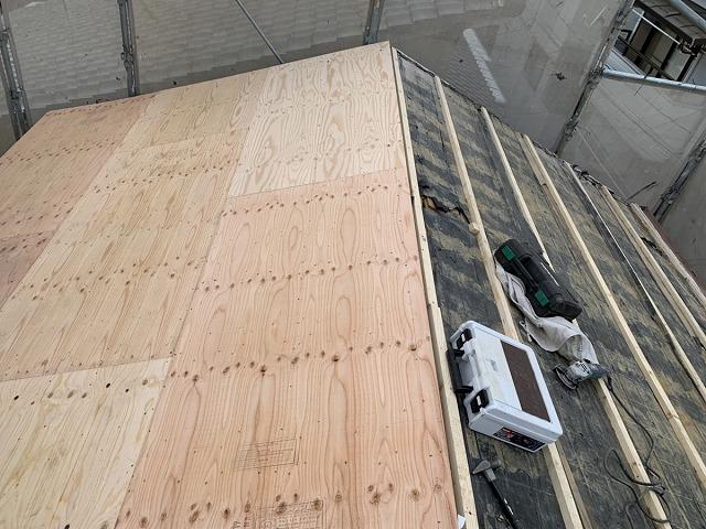 屋根葺き替え 下地工事