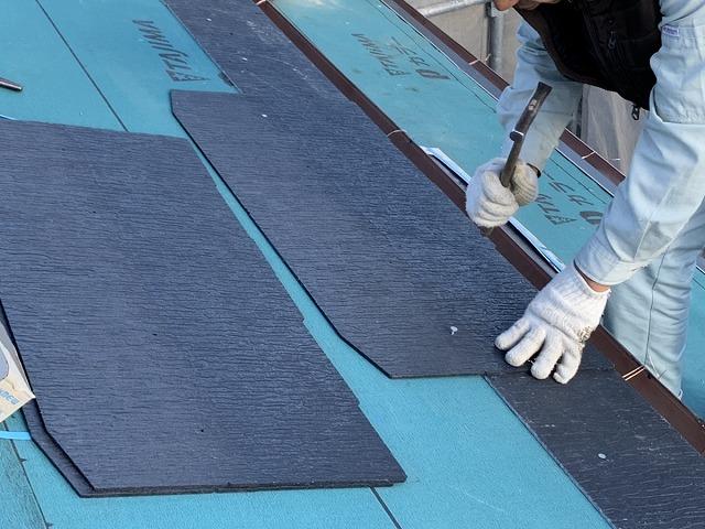 屋根葺き替え カラーベスト貼り