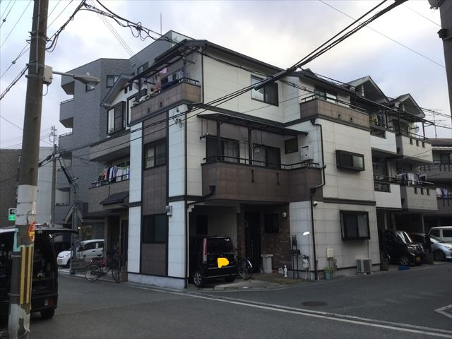 大阪市西淀川区で3階建てサイディングの外壁・屋根塗装工事