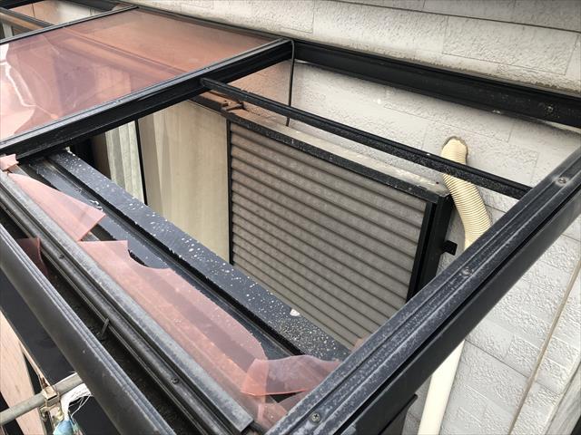 テラス屋根 破損