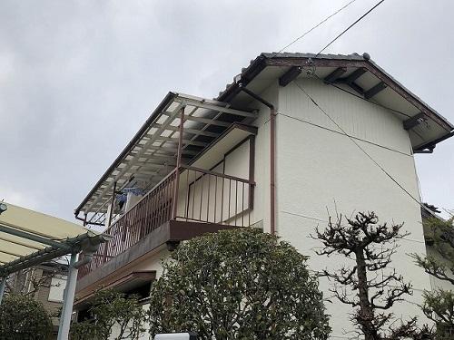 茨木市にて築50年の戸建てを現場調査