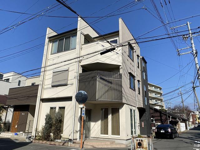 大阪市淀川区 外壁塗装 施工前 モルタル外壁