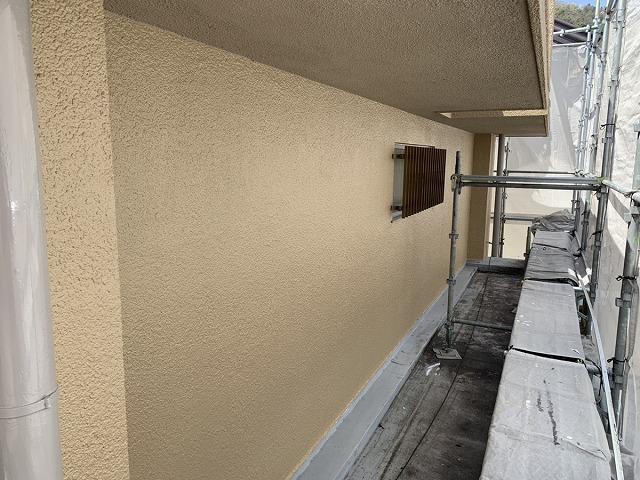 外壁塗装 上塗り 終了